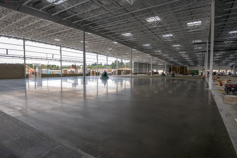 Interior concrete floor for Costco Wholesale