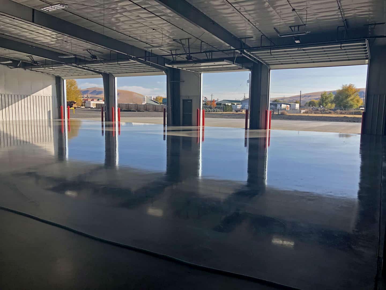 Interior slab on grade concrete floor